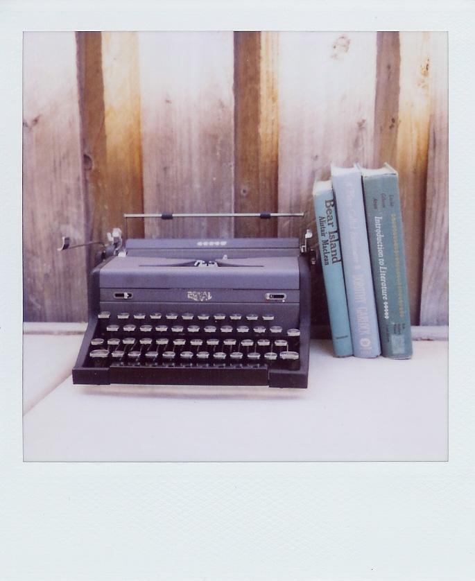 Rustic typewriter
